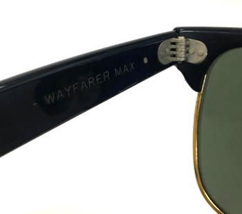 ウェイファーラーマックス(MAX)ボシュロムB&L USA製テンプル内側刻印