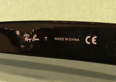 レイバンサングラス偽物写真・画像「MADE IN CHINA」