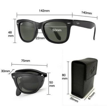 【レビュー感想】レイバンフォールディングウェイファーラーRB4105 50-22(50サイズ)折り畳みサングラスの買い方