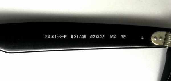 レイバン偏光レンズ型番