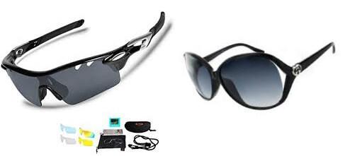 バーベキュー時にはファッションブランドのサングラスと、スポーツサングラスは避ける