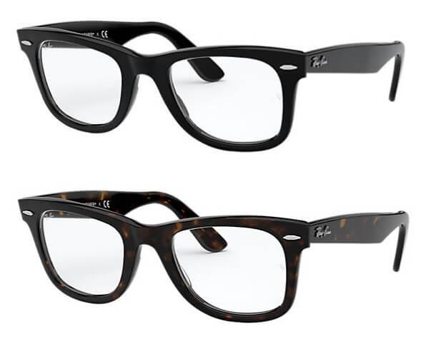ウェイファーラーメガネのカラー2色「ブラック」「ダークハバナ」