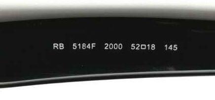 レイバンウェイファーラーメガネの型番 RX5184F