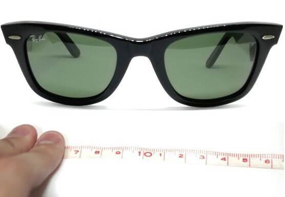 レイバンウェイファーラーのサイズを測ってみた!【サイズ表から比較・選べる全9種類】