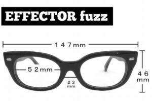 EFFCTOR 眼鏡「fuzz」のレビュー!エフェクターメガネ ファズの口コミや評判は?