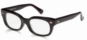 エフェクタ―メガネ「ファズ fuzz」眼鏡BKGブラック/金具ゴールド